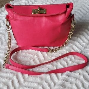 Betsey Johnson Lipstick Turn Latch Crossbody Purse